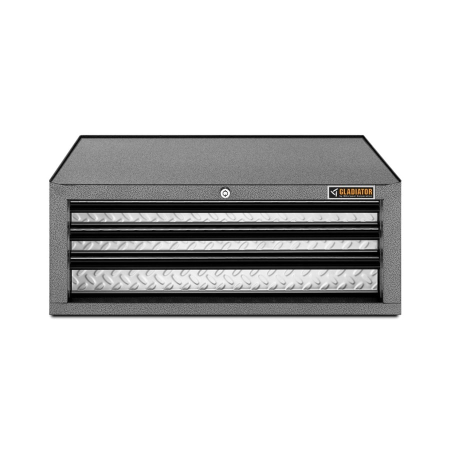 Gladiator Premier Series 10.2-in x 26.5-in 3-Drawer Ball-bearing Steel Tool Chest (Gray)