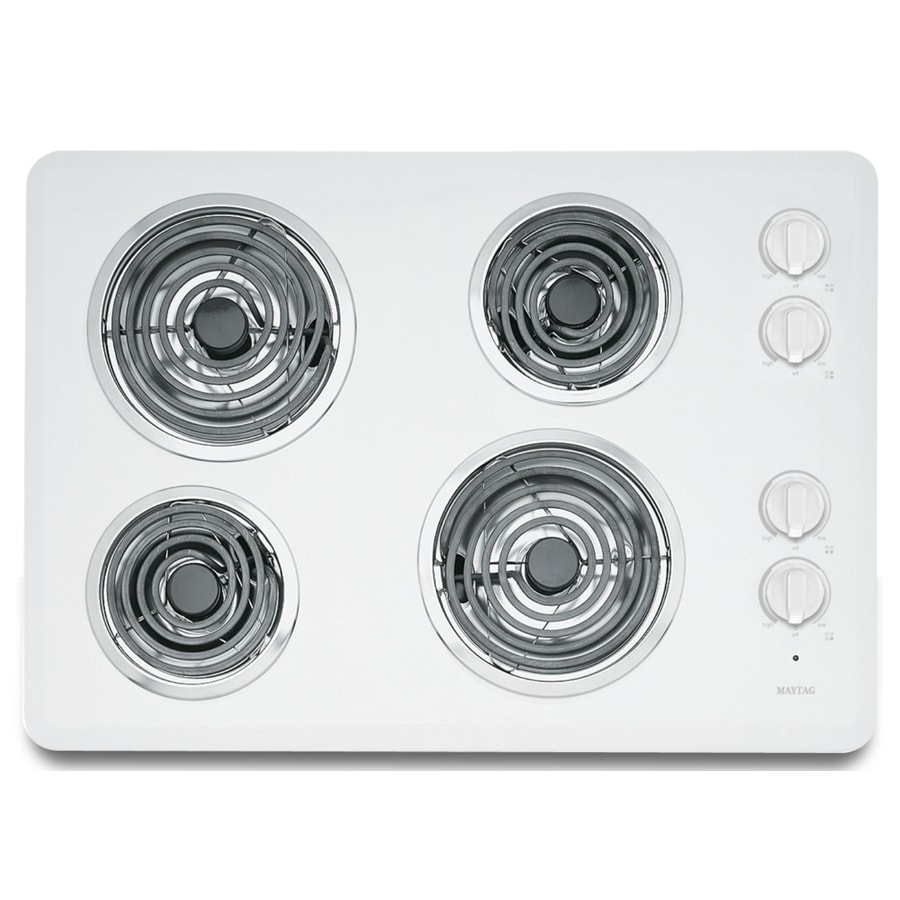 Maytag Electric Cooktop (White) (Common: 30-in; Actual 30-in)