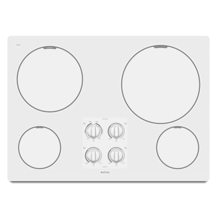 Maytag 30-in Smooth Surface Electric Cooktop