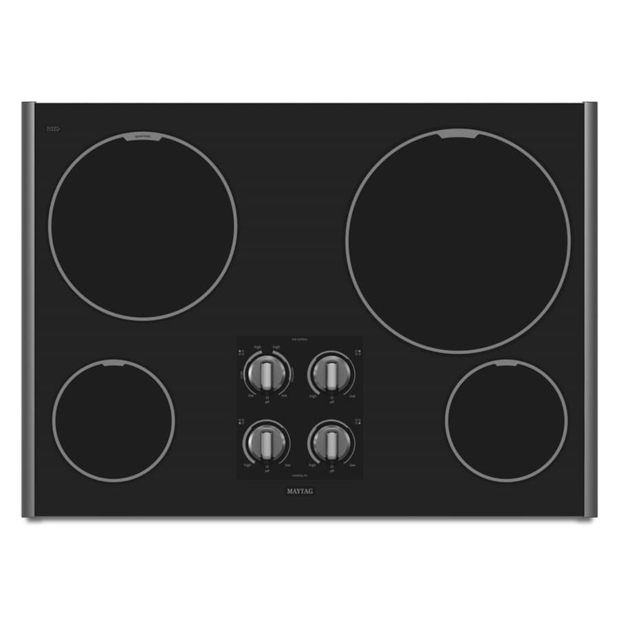 Maytag 30-in Smooth Surface Electric Cooktop (Stainless Steel)