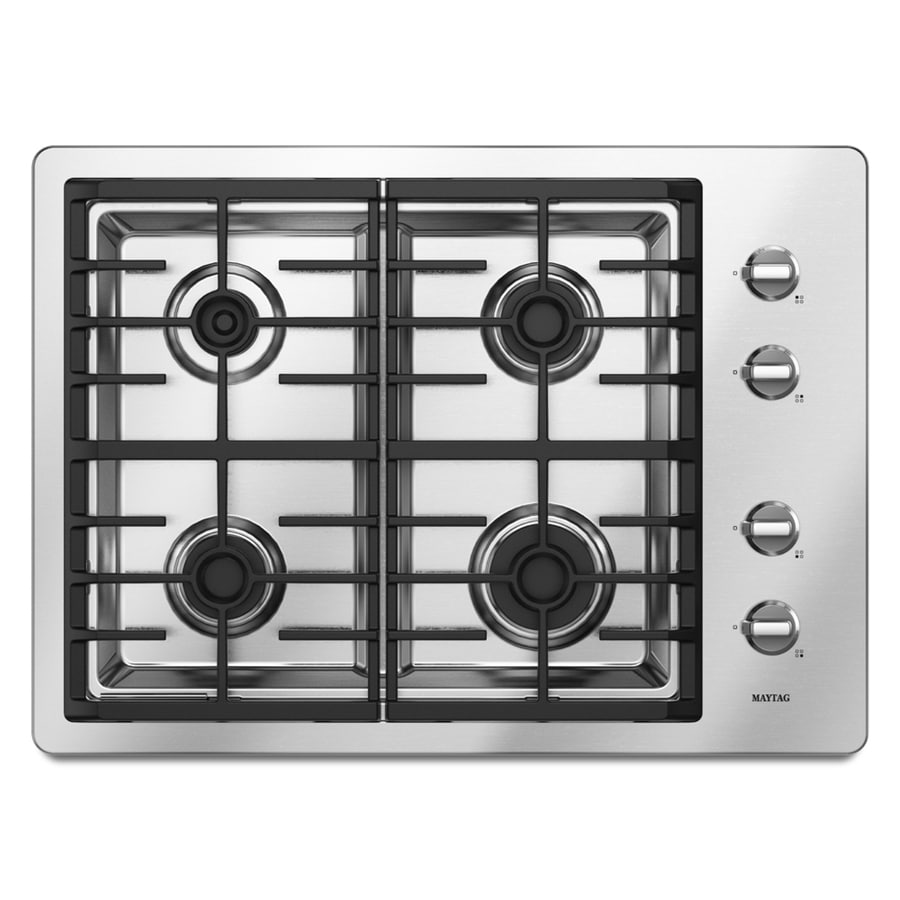 Maytag 4-Burner Gas Cooktop (Stainless) (Common: 30-in; Actual 29.5-in)