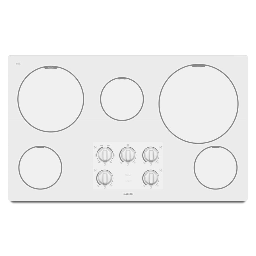 Maytag 36-in Smooth Surface Electric Cooktop (White)