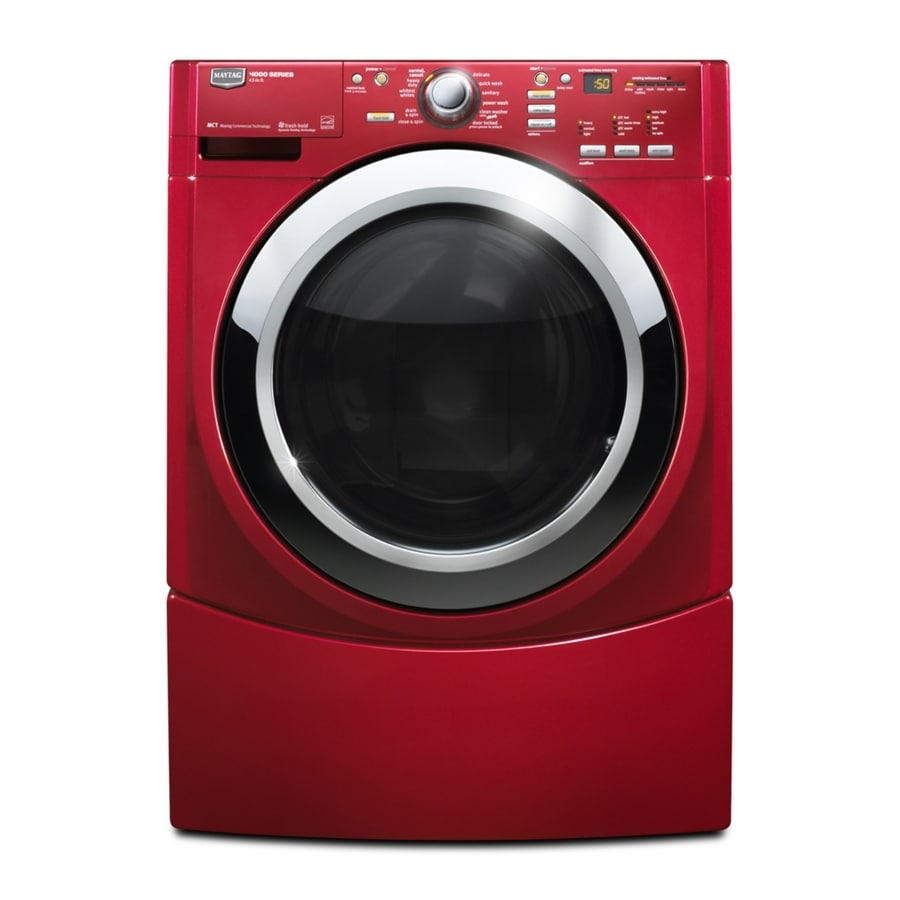 Maytag 3 9 Cu Ft Front Load Washer Cranberry Red