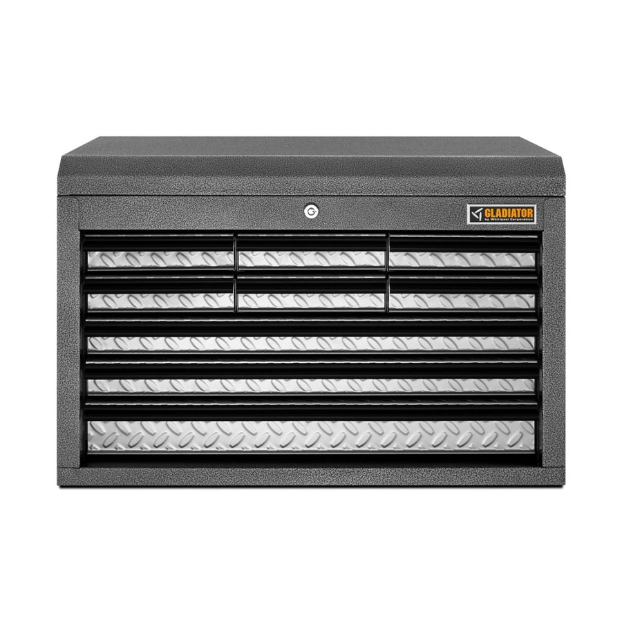 Gladiator 711.2-in x 660.4-in 9-Drawer Ball-bearing Steel Tool Chest (Silver)
