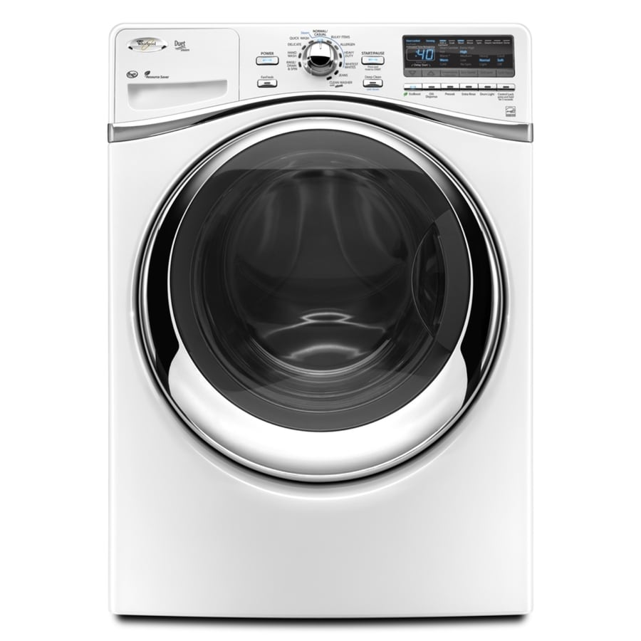 Whirlpool Duet 4.3-cu ft High-Efficiency Stackable Front-Load Washer (White)