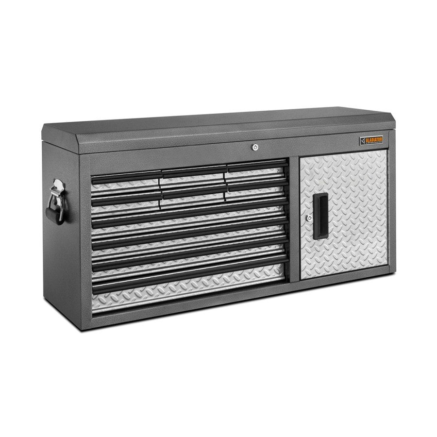 Gladiator 19.5-in x 40.4-in 10-Drawer Ball-Bearing Steel Tool Chest (Silver)