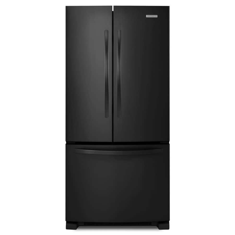 KitchenAid Architect II 21.7-cu ft French Door Refrigerator with Single Ice Maker (Black) ENERGY STAR