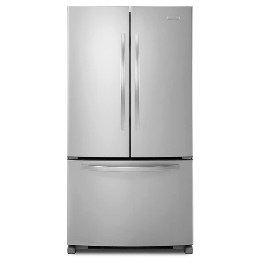KitchenAid Architect II 24.8-cu ft French Door Refrigerator with Single Ice Maker (Monochromatic Stainless Steel) ENERGY STAR