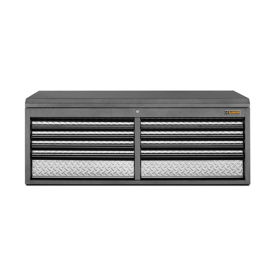 Gladiator Premier Series 19.5-in x 50.79-in 10-Drawer Ball-bearing Steel Tool Chest (Gray)
