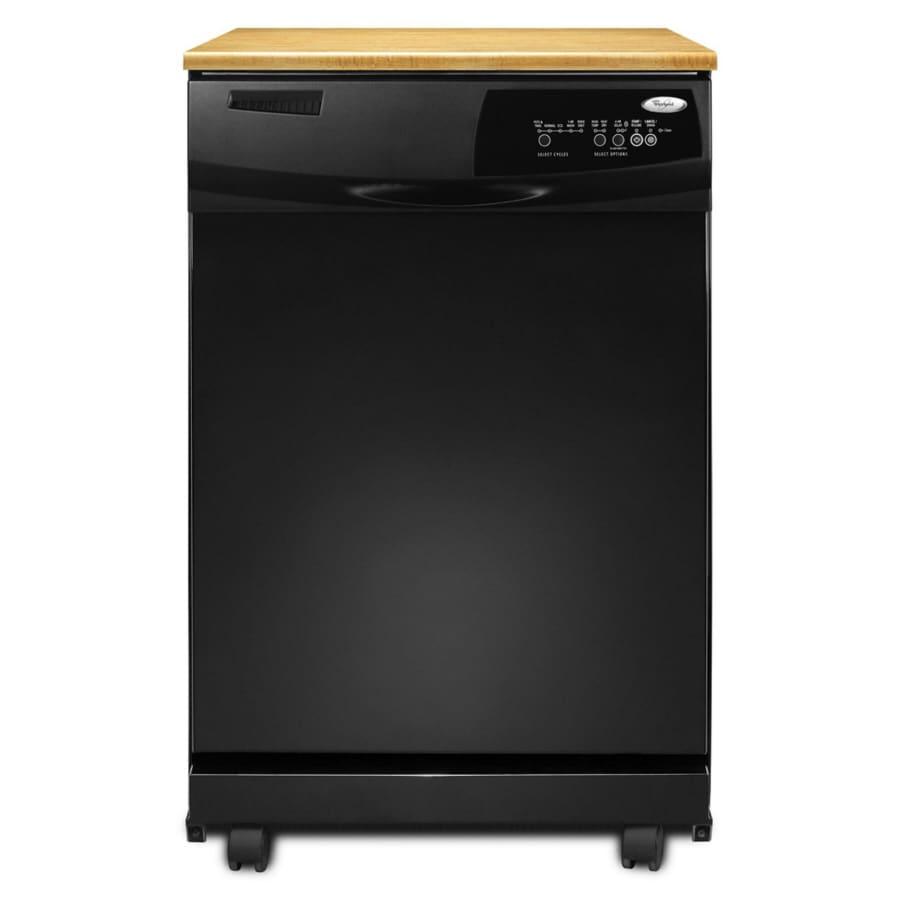 Shop Ge 24 In Black Dishwasher With Piranha Hard Food: Whirlpool 24-1/8-in Portable Dishwasher With Hard Food