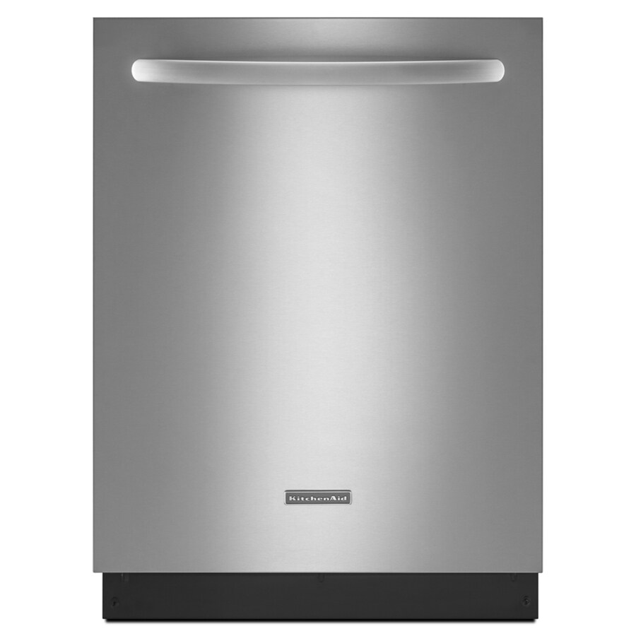 KitchenAid 52-Decibel Built-In Dishwasher (Stainless) (Common: 24-in; Actual: 23.875-in)