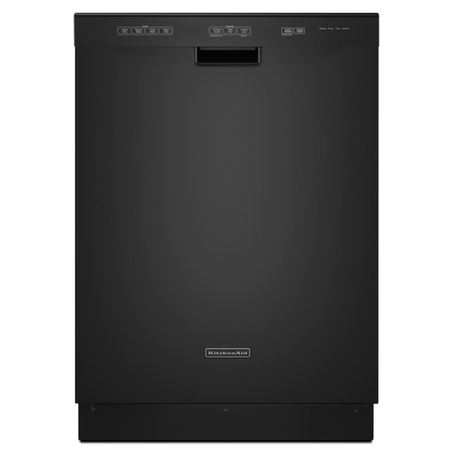"KitchenAid 24"" Built-In Dishwasher with Hard Food Disposer (Black) ENERGY STAR"
