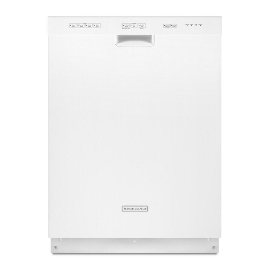 KitchenAid 52-Decibel Built-In Dishwasher (White) (Common: 24-in; Actual: 23.875-in)