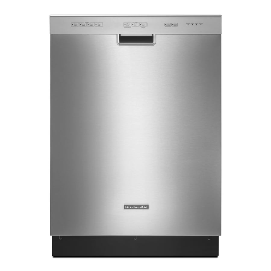 KitchenAid 24-in 52 Decibels Built-in Dishwasher with Hard Food Disposer and Stainless Steel Tub (Stainless) ENERGY STAR