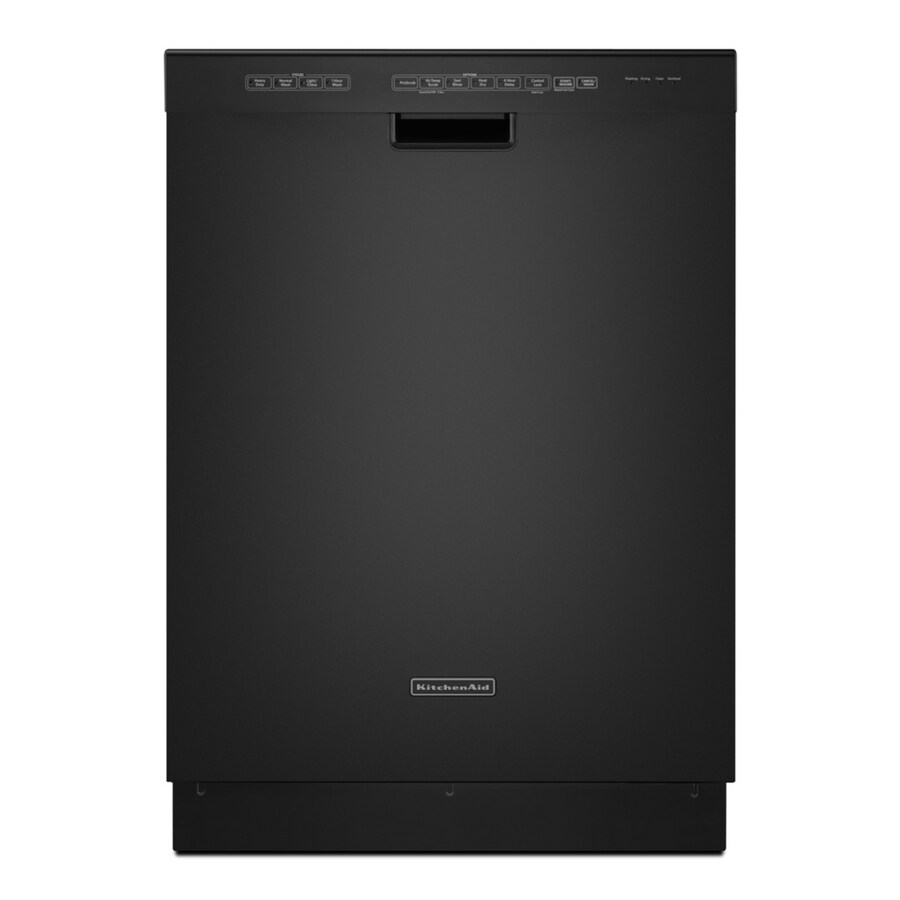 KitchenAid 49-Decibel Built-In Dishwasher (Black) (Common: 24-in; Actual: 23.875-in)