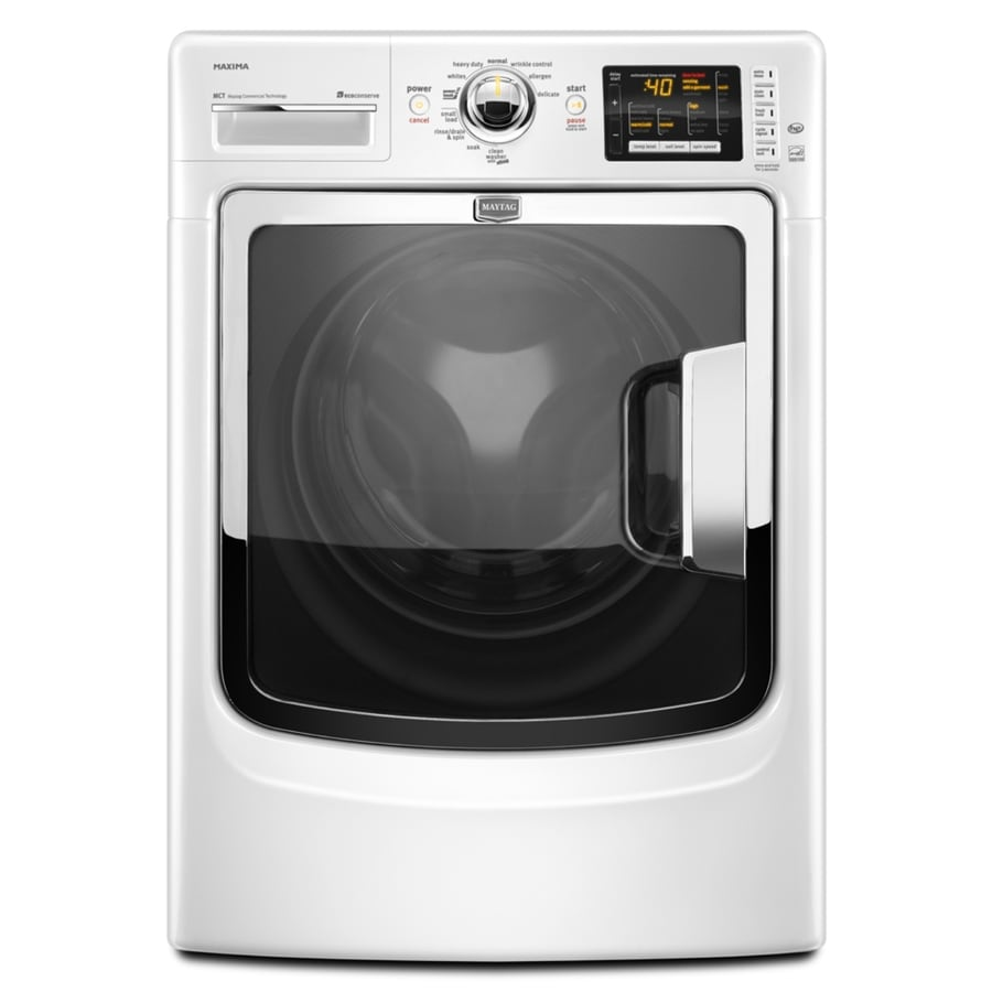 Maytag Maxima 4.3-cu ft High-Efficiency Stackable Front-Load Washer (White) ENERGY STAR