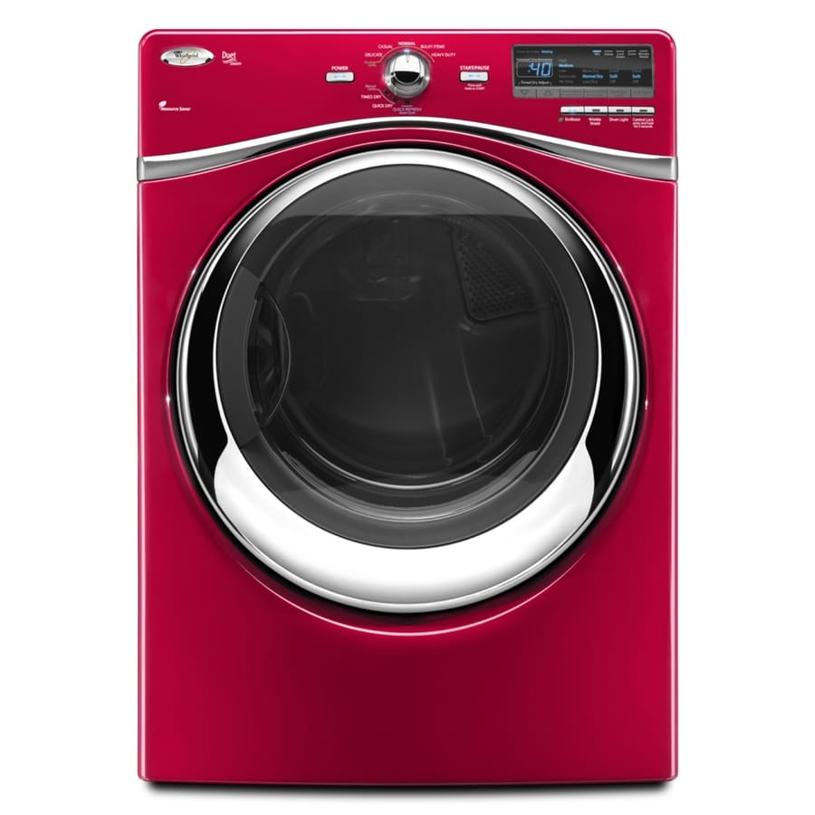 Whirlpool Duet 7.4 Cu Ft Steam Electric Dryer (Cranberry