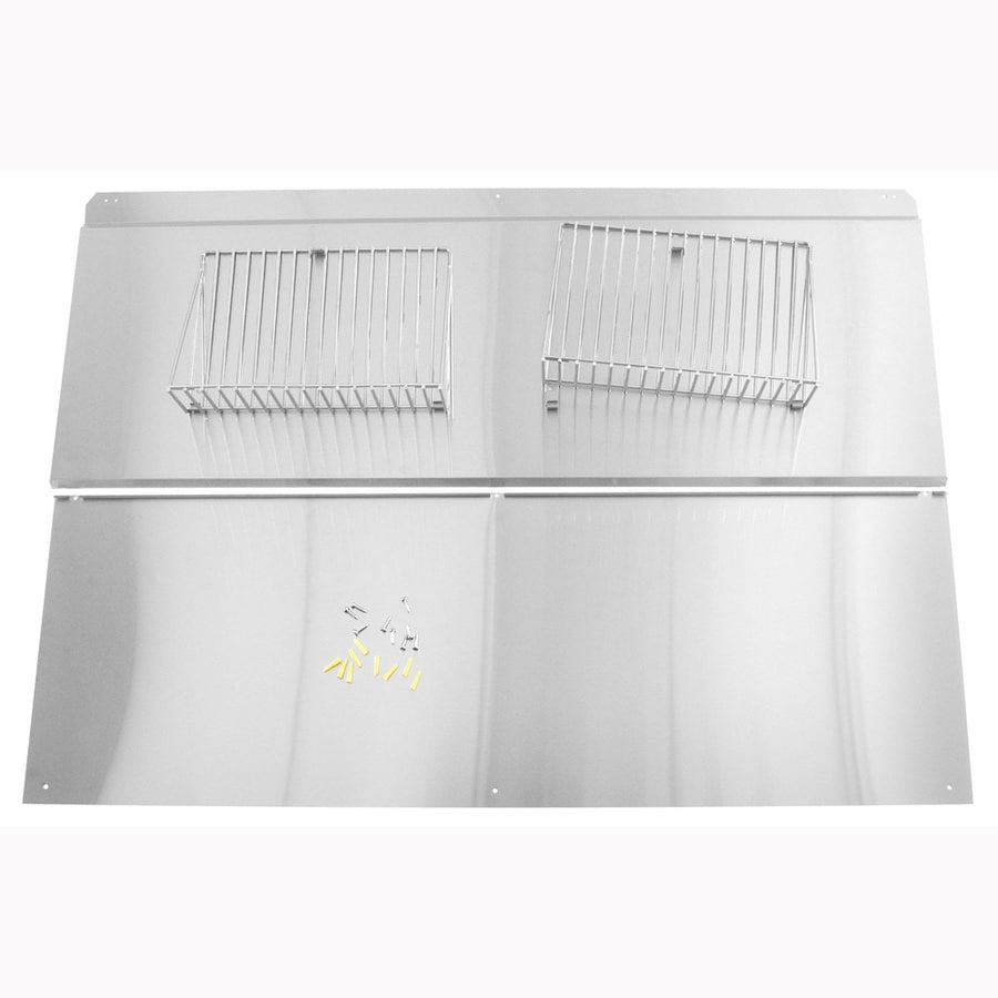 Whirlpool 48-in Gas and Electric Range Backsplash (Stainless Steel)