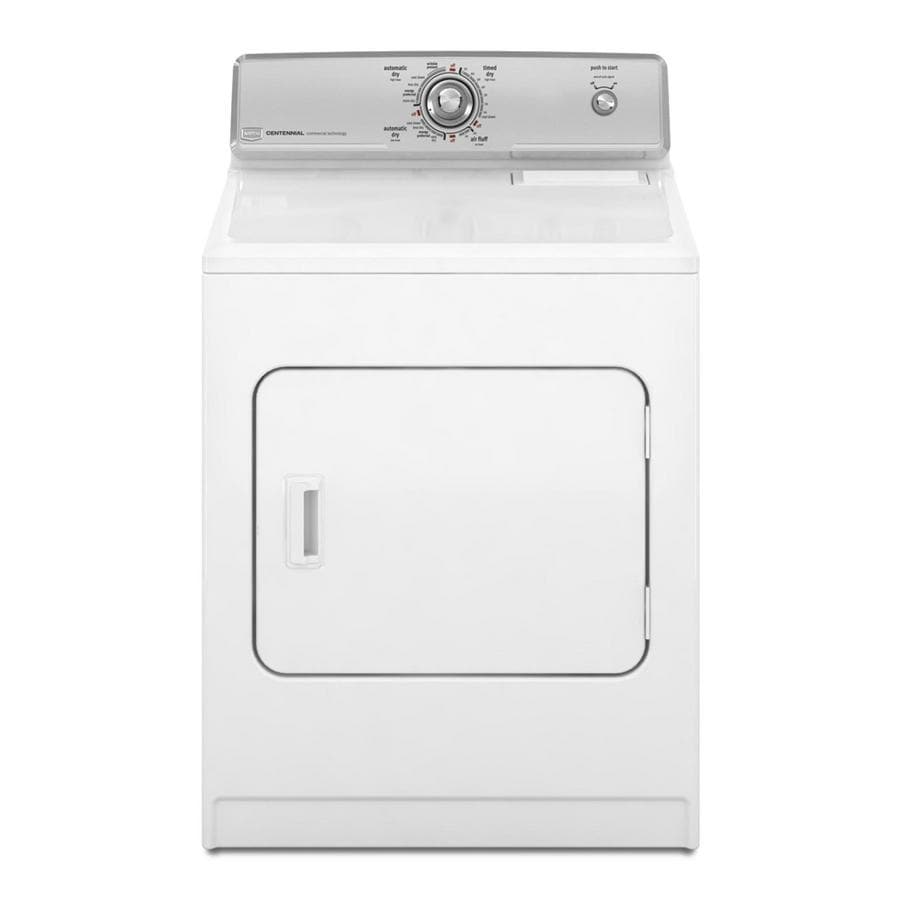 shop maytag centennial 7 cu ft electric dryer white at lowes com rh lowes com