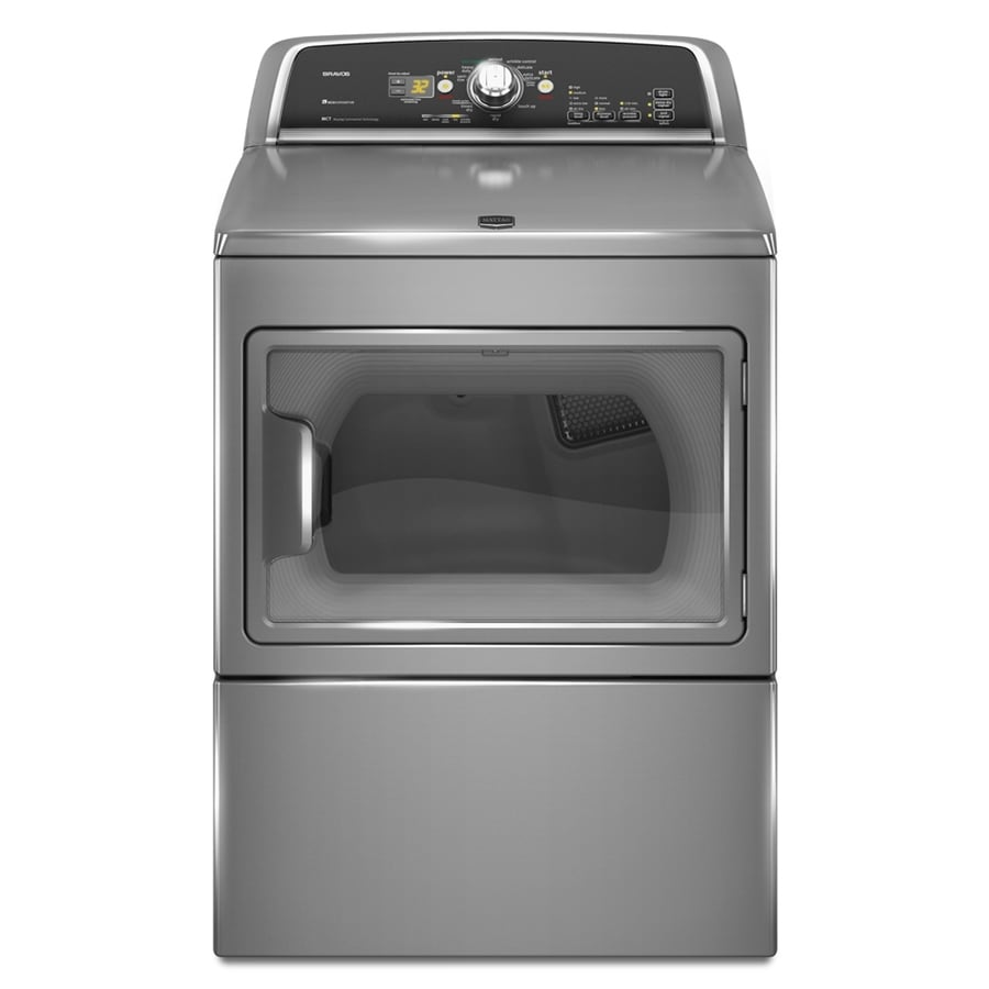Maytag 7.4-cu ft Electric Dryer (Silver)