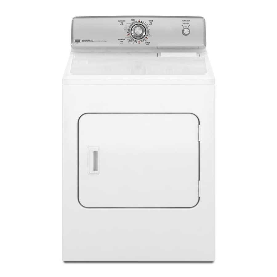 Maytag 7-cu ft Gas Dryer (White)