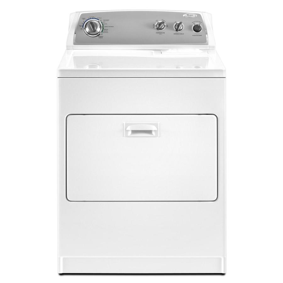 whirlpool 7cu ft electric dryer white