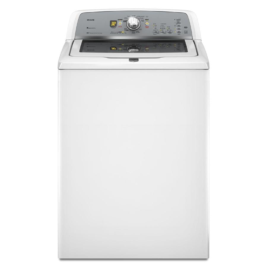 Maytag Bravos 3.6-cu ft High-Efficiency Top-Load Washer (White)