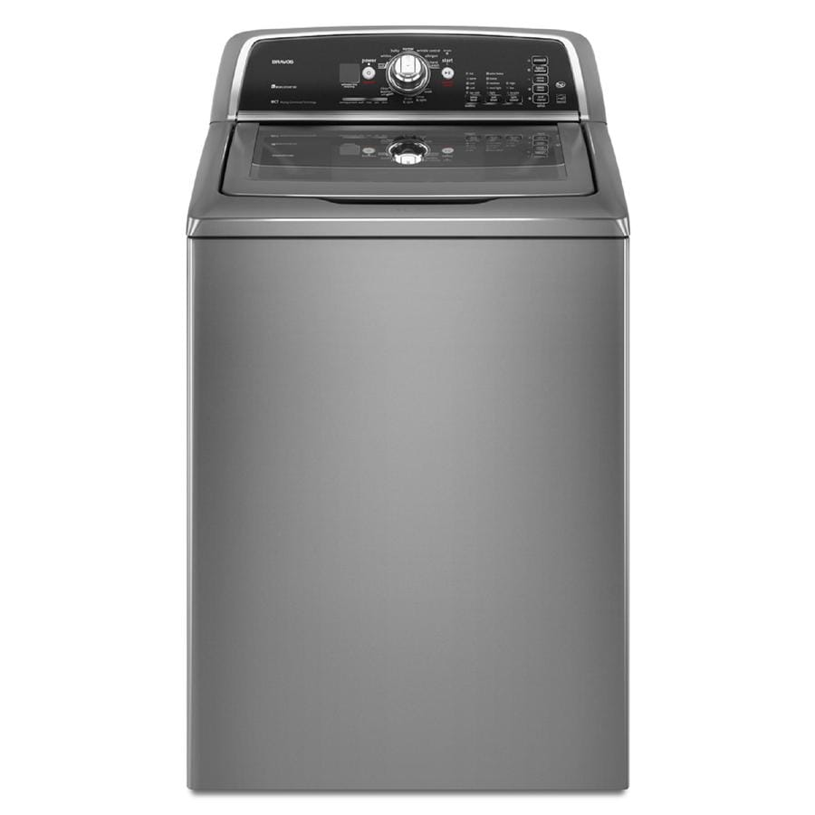 Maytag Bravos 3.6-cu ft High-Efficiency Top-Load Washer (Lunar Silver)