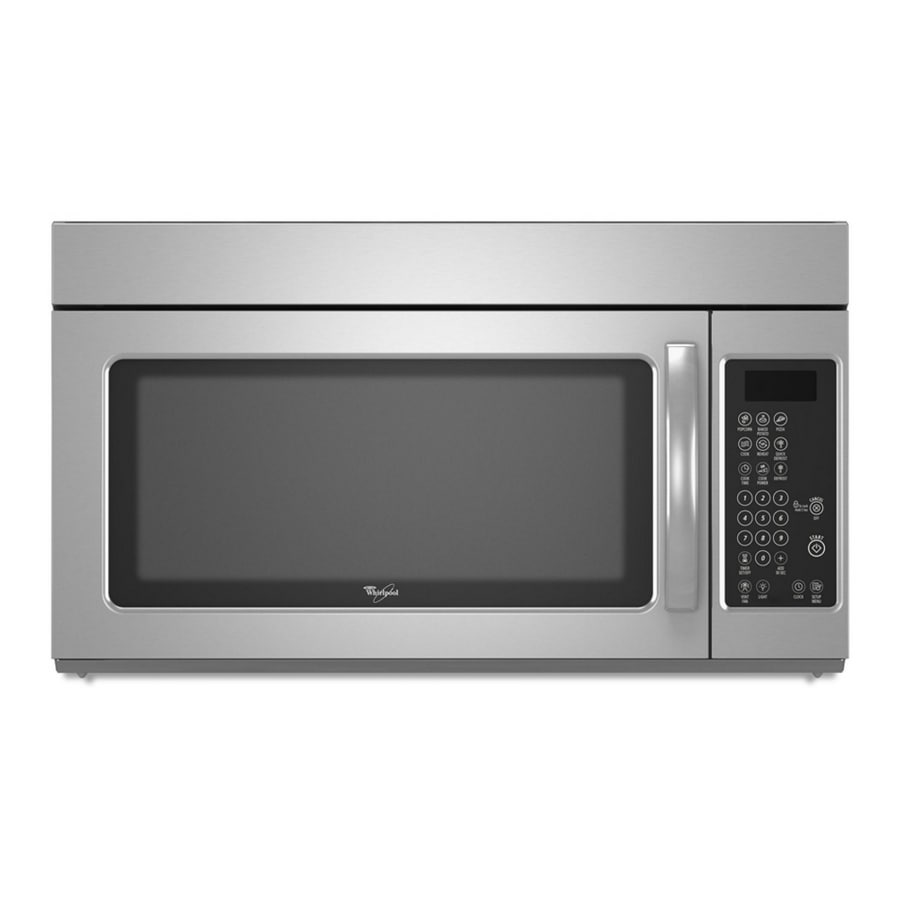 Whirlpool 1 6 Cu Ft Over The Range Microwave With Sensor Cooking Controls