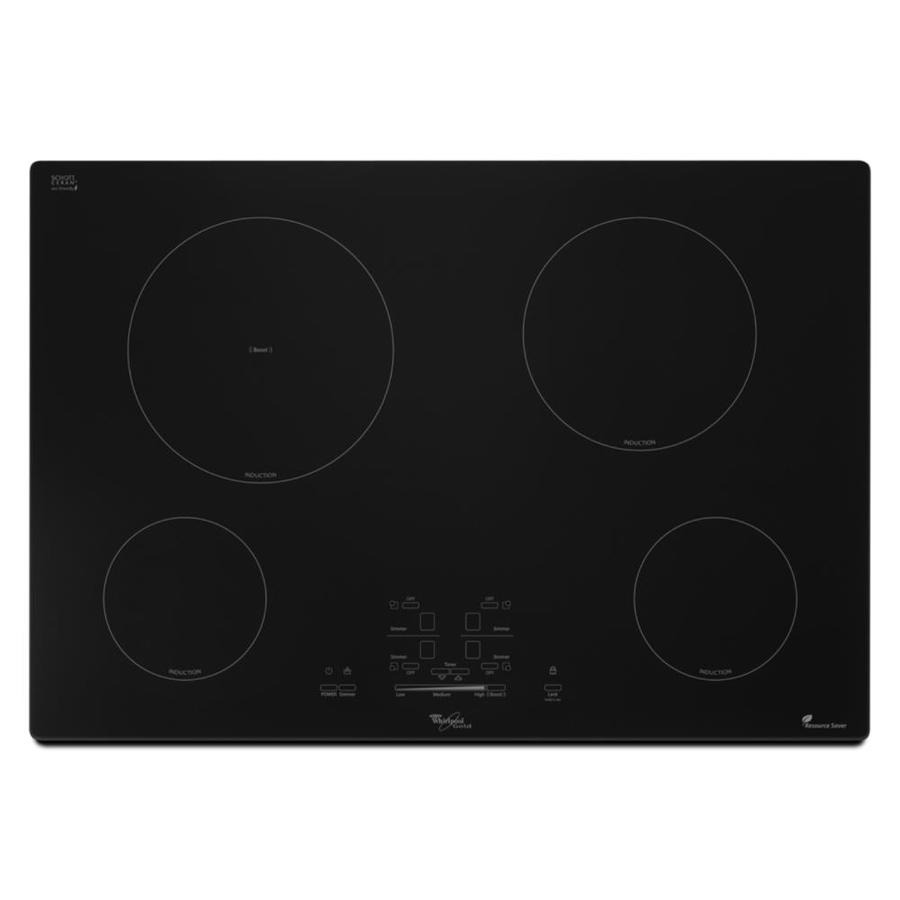 Whirlpool 4 Element Induction Cooktop (Black) (Common: 30 Inch; Actual