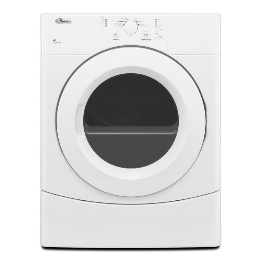 ft electric dryer white