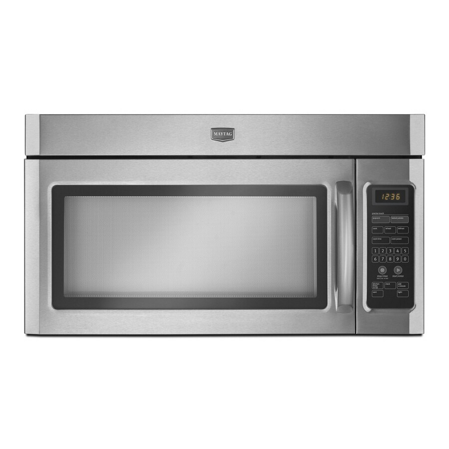 Maytag 1.6-cu ft Over-the-Range Microwave with Sensor Cooking Controls (Stainless Steel)