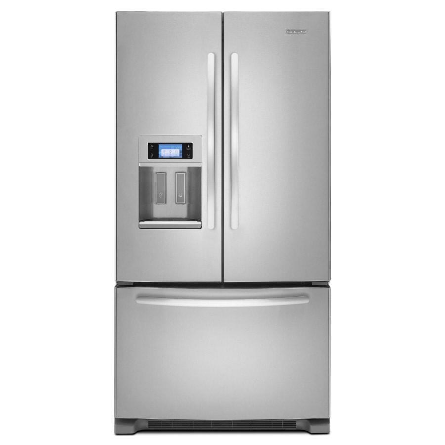 Shop Kitchenaid 266 Cu Ft Door French Door Refrigerator With Ice
