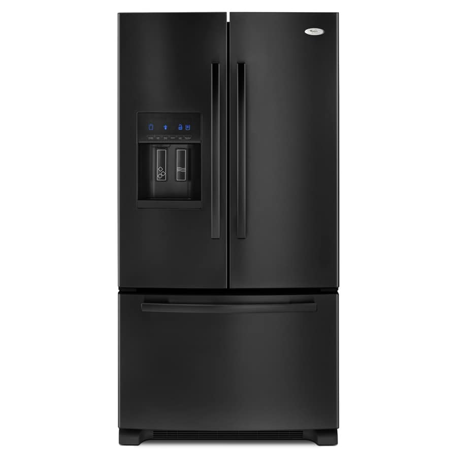 Whirlpool Gold 25.6 cu ft French Door Refrigerator (Black) ENERGY STAR