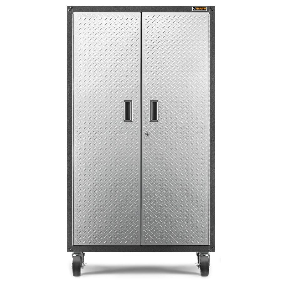 Gladiator Ready-to-Assemble Mobile Storage Cabinet 36-in W x 66-in H x 18-in D Steel Freestanding Or Wall-mount Garage Cabinet
