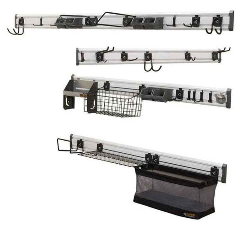 Gladiator GearTrack 107-Piece Varied Composite Storage Rail System