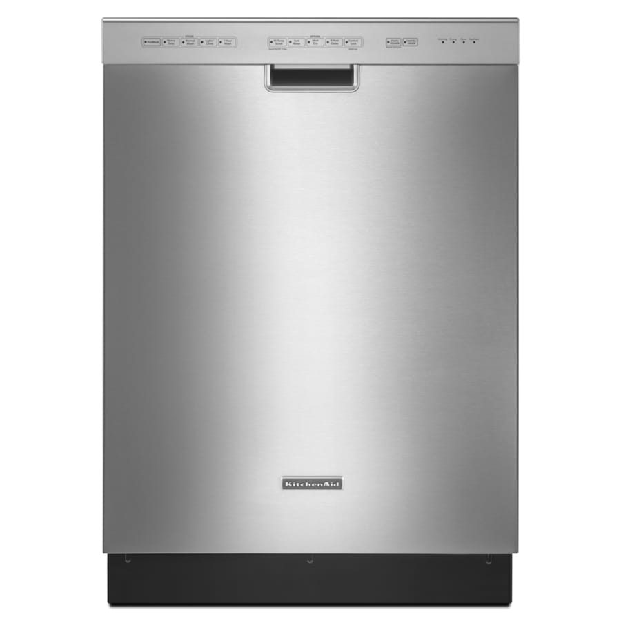 KitchenAid 46-Decibel Built-In Dishwasher (Stainless) (Common: 24-in; Actual: 23.875-in)