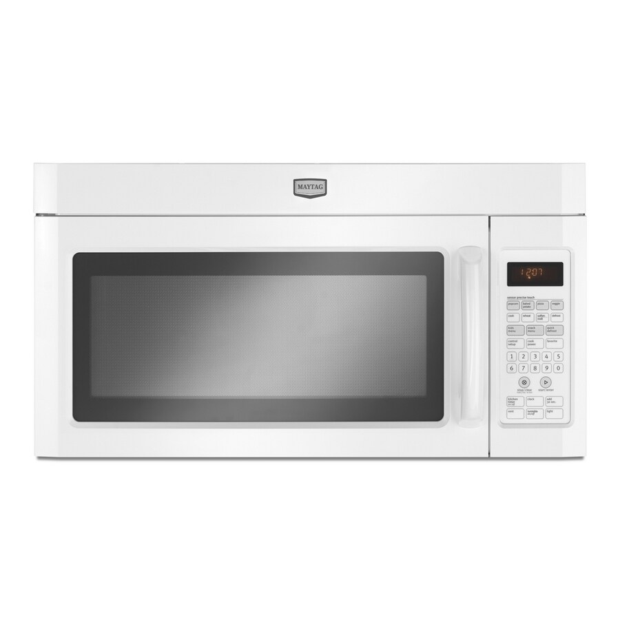Maytag 2-cu ft Over-the-Range Microwave with Sensor Cooking Controls (White)