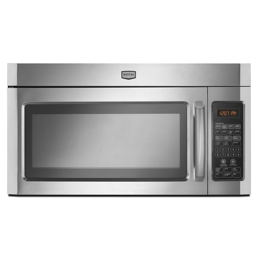 Maytag 30-in 2-cu ft Over-the-Range Microwave with Sensor Cooking Controls (Stainless Steel)