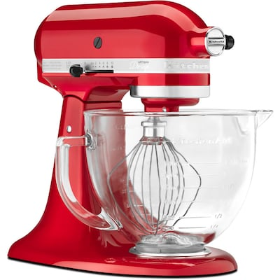 Artisan Designer 5-Quart 10-Speed Candy Apple Red Countertop Stand Mixer