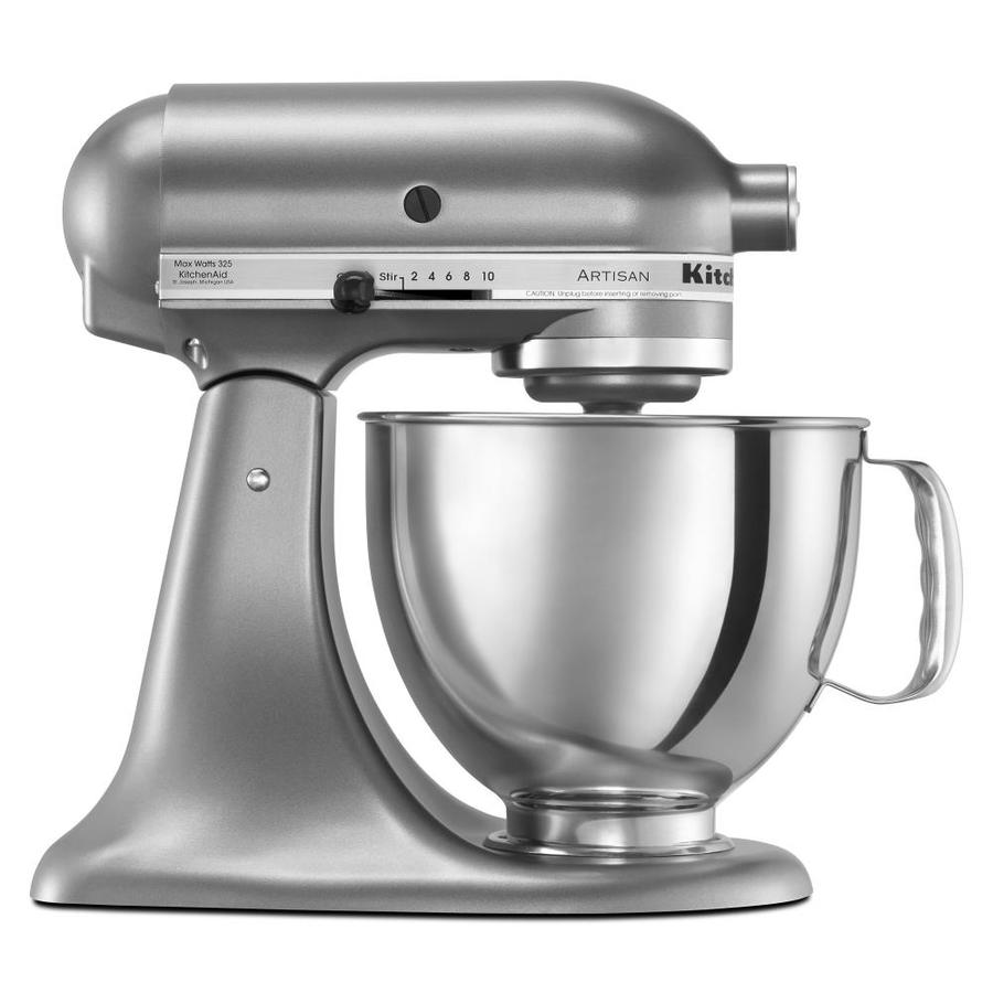 Shop KitchenAid Artisan 5-Quart 10-Speed Contour Silver Countertop ...