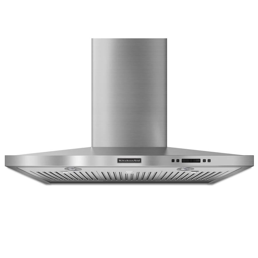 KitchenAid Convertible Wall-Mounted Range Hood (Stainless) (Common: 36-in; Actual 36-in)