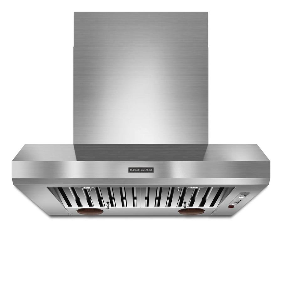 KitchenAid Ducted Wall-Mounted Range Hood (Stainless) (Common: 36-in; Actual: 36-in)