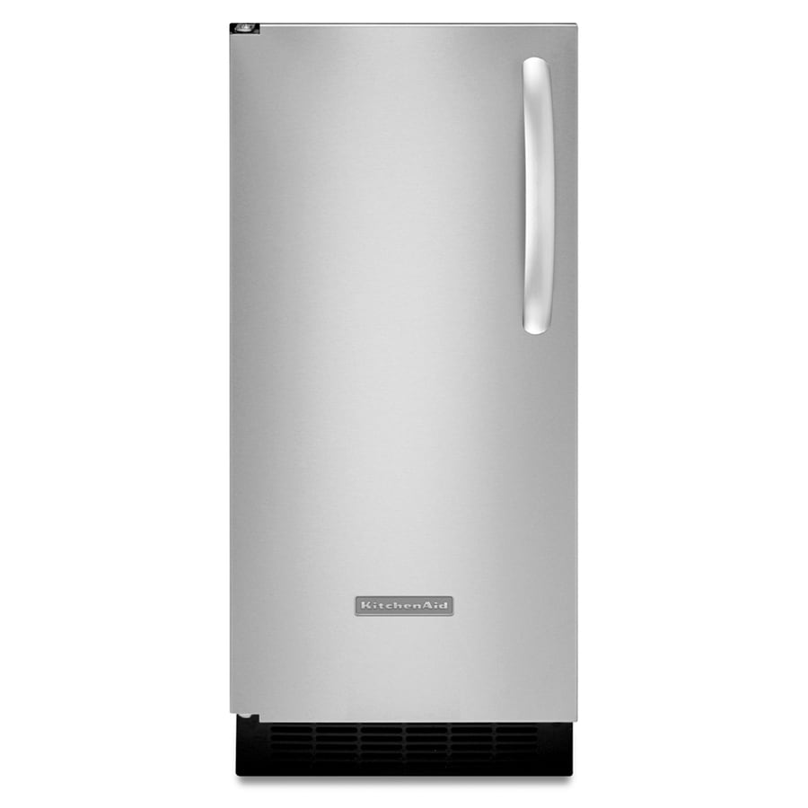 KitchenAid 14-7/8-in 25 lb Capacity Freestanding/Built-In Ice Maker (Stainless Steel)