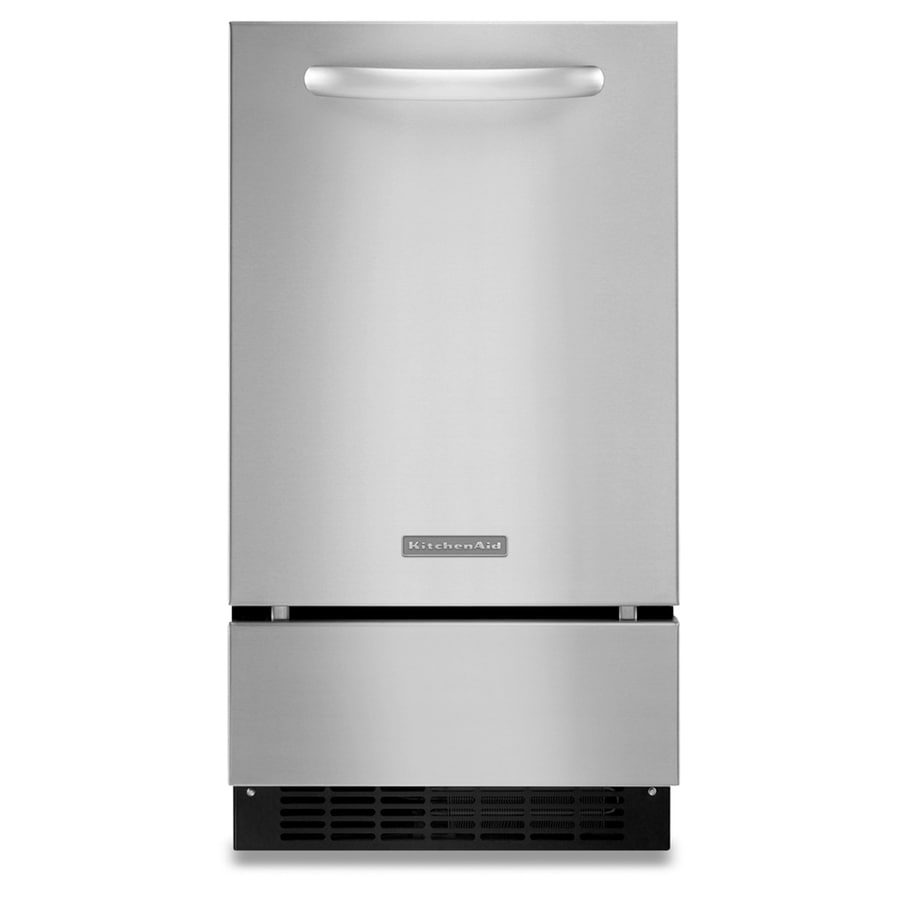 KitchenAid 17-7/8-in 35 lb Capacity Freestanding/Built-In Ice Maker (Stainless Steel)