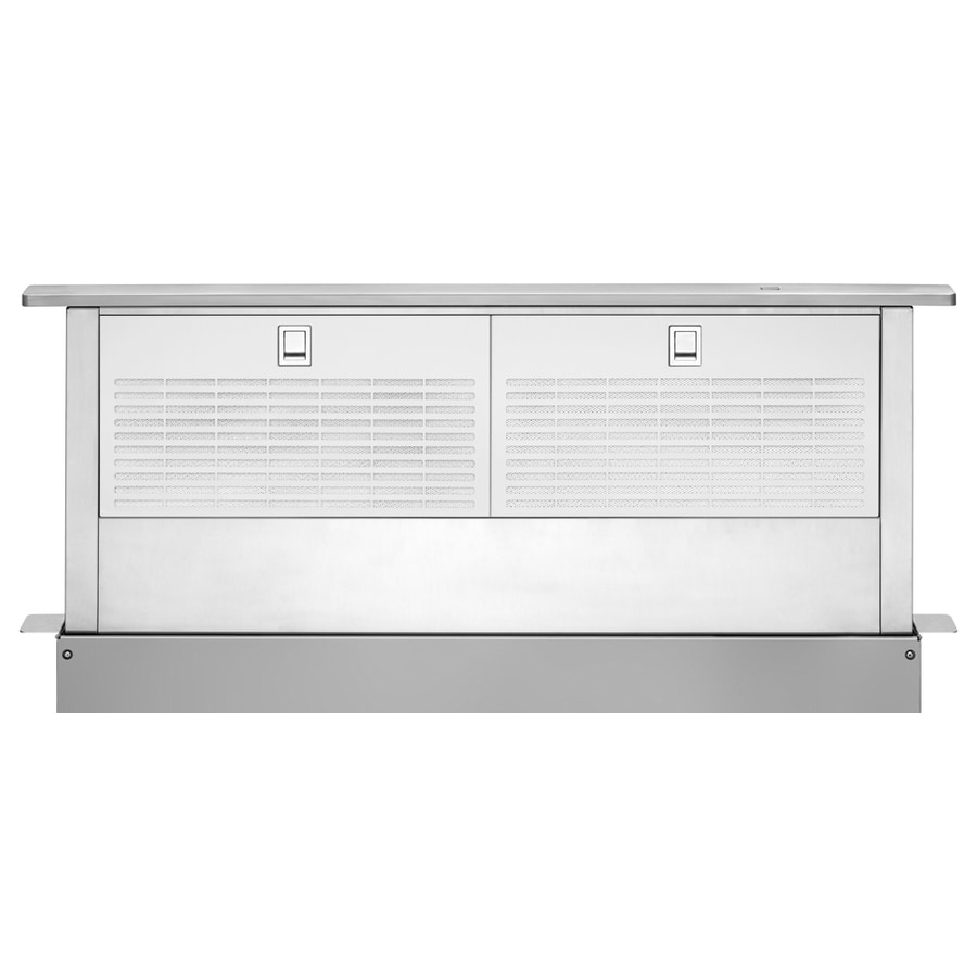 Shop whirlpool 36 in downdraft range hood stainless steel for What is a downdraft range