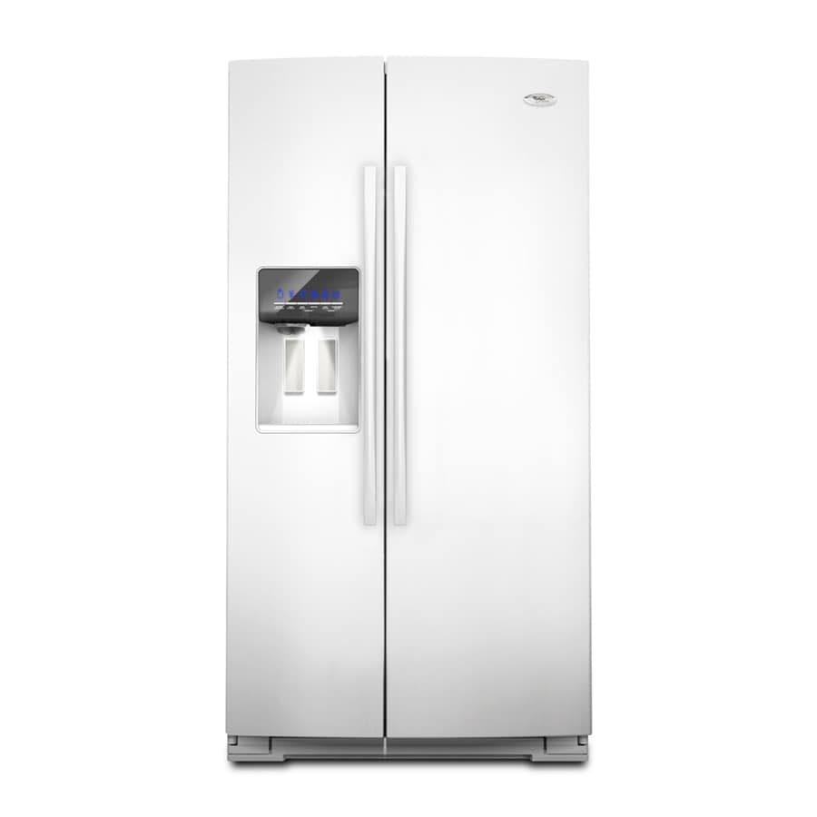 Whirlpool Gold 24.6-cu ft Side-by-Side Counter-Depth Refrigerator with Single Ice Maker (White) ENERGY STAR