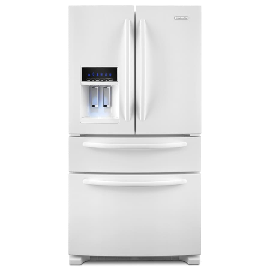 Shop KitchenAid 25-cu Ft 4-Door French Door Refrigerator