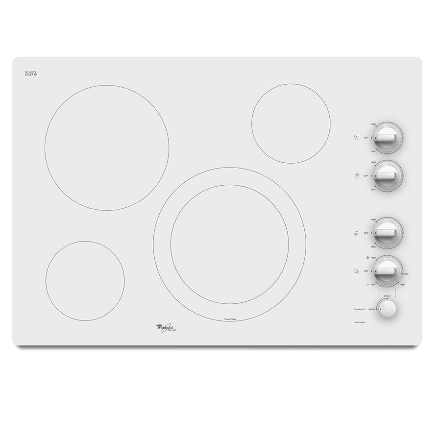 Whirlpool white ice single wall oven - Whirlpool Gold 4 Element Smooth Surface Electric Cooktop White Common 30