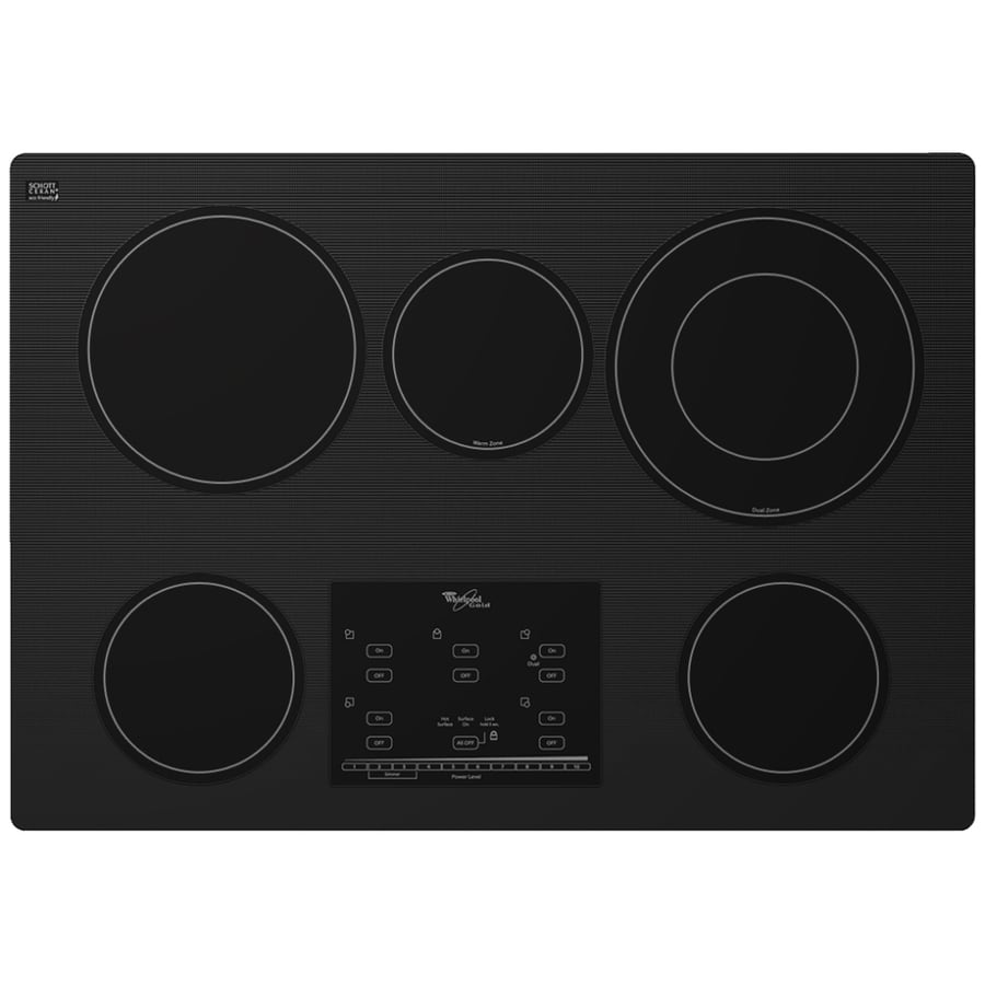 Whirlpool 30 Electric Cooktop ~ Shop whirlpool gold element smooth surface electric